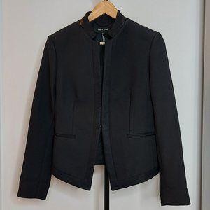 Structured leather accented rag & bone blazer